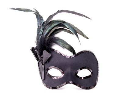 isolated carnival mask