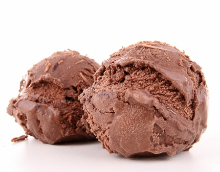 chocolate ice cream: cr�me glac�e au chocolat Banque d'images