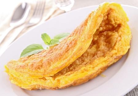 omelette: tasty omelette Stock Photo