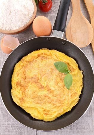 omelette: omelette in pan