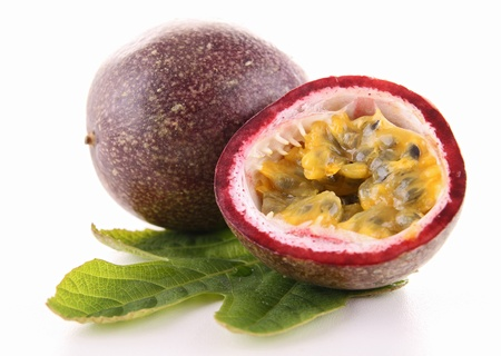 passion: isolated passion fruit Stock Photo