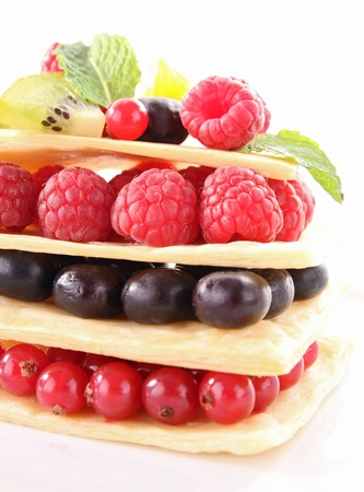 mille: berries mille feuille Stock Photo