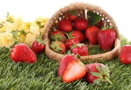 garden fresh: heap of strawberry