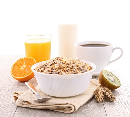 cereal bowl: breakfast Stock Photo