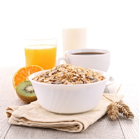 muesli: healthy breakfast Stock Photo