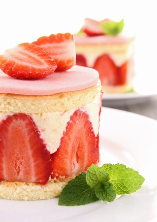 aardbei: Strawberry shortcake Stockfoto
