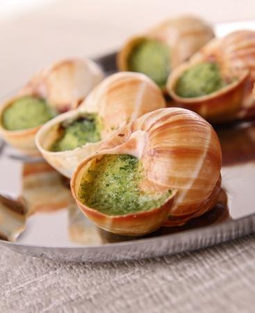 caracol: caracoles con mantequilla y perejil