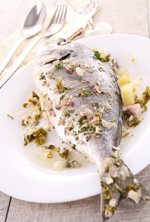 dorado fish: grilled sea bream Stock Photo