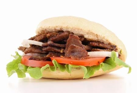 doner: isolated kebab