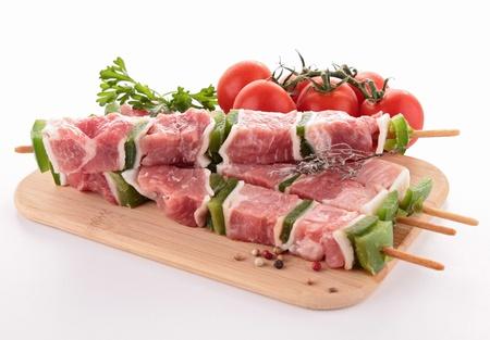carnes: aisladas carne cruda