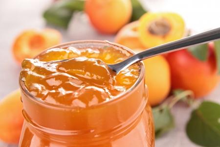 gourmet apricot jam Stok Fotoğraf - 14029745