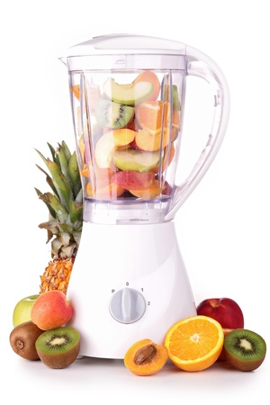 blender with fruits photo