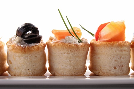 canapes appetizer, buffet food photo