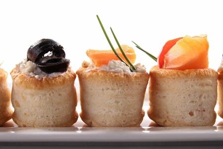 caviar: canapes appetizer, buffet food