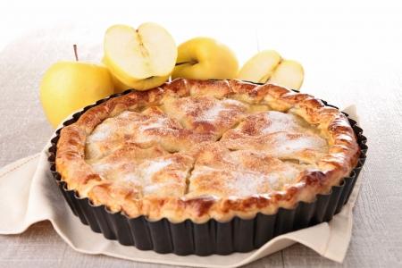 tourtes: gastronomique tarte aux pommes Banque d'images
