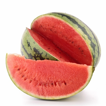cross cut: isolated watermelon