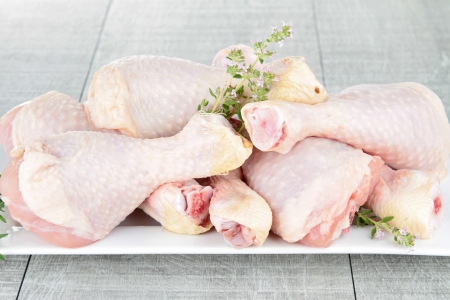 raw drumsticks chicken photo