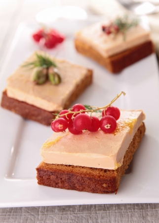 appetizer, foie gras and gingerbread photo