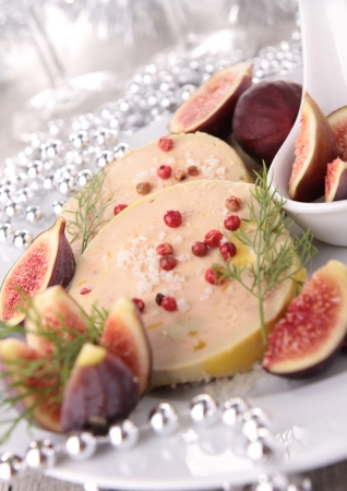 christmas dish: foie gras with figs