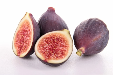 fig: isolated fresh fig