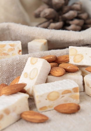 nougat: nougat with almonds