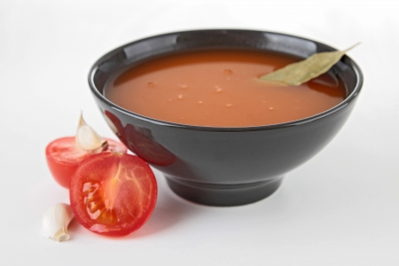 bowl of tomato soup photo