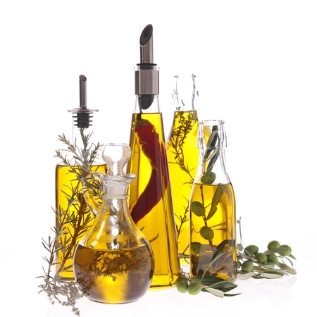 cooking oil: assortment of cooking oil Stock Photo