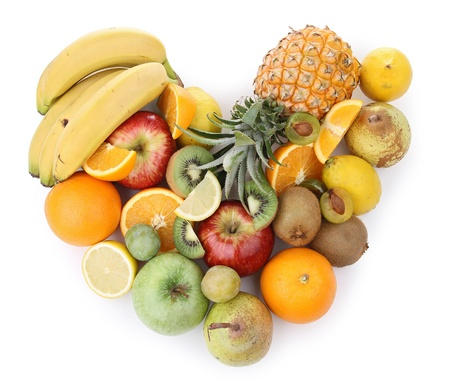 assortment of fruits,heart photo