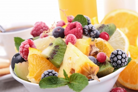 fruit salad: healthy breakfast with fruits