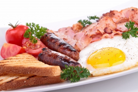 english food: english breakfast Stock Photo