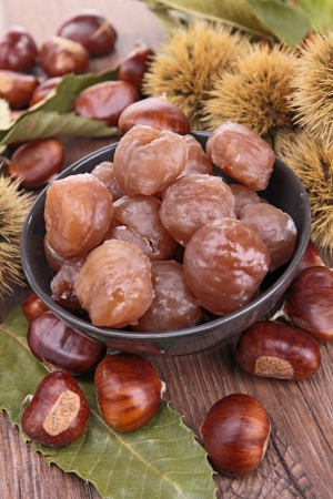 candied fruits: marron glacé