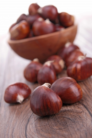 maroni: chestnut Stock Photo