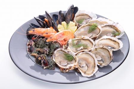 seafood platter: seafood platter Stock Photo