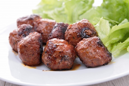grilled meatballs Stock Photo - 16454141