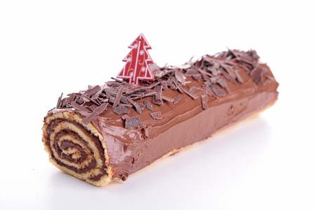 isolated yule log photo