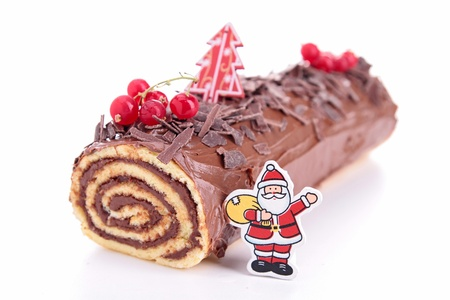 Yule log, swiss roll photo