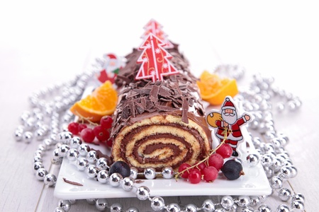 chocolate swiss roll photo
