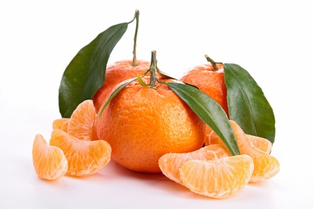 clementine: clementine isolated on white Stock Photo