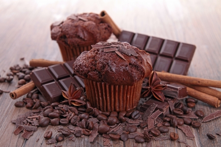 muffins: chocolate muffin Stock Photo