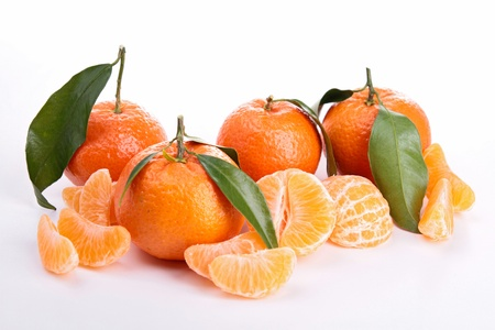 clementine: isolated ripe clementine