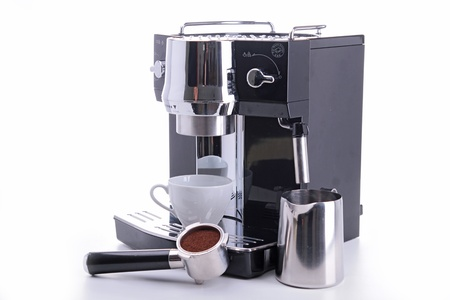 coffeemaker: coffeemaker and cup