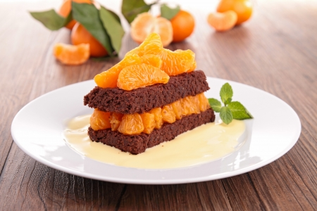 clementine: chocolate cake with clementine
