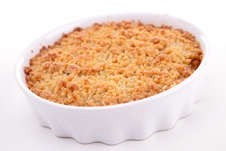 to crumble: isolated crumble