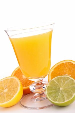 fruit juice on white