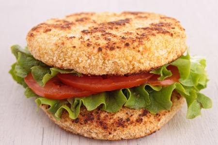 vegetarian hamburger: vegetarian hamburger
