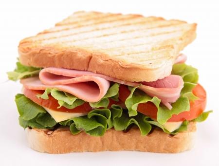 sandwich de pollo: s?wich aislado Foto de archivo