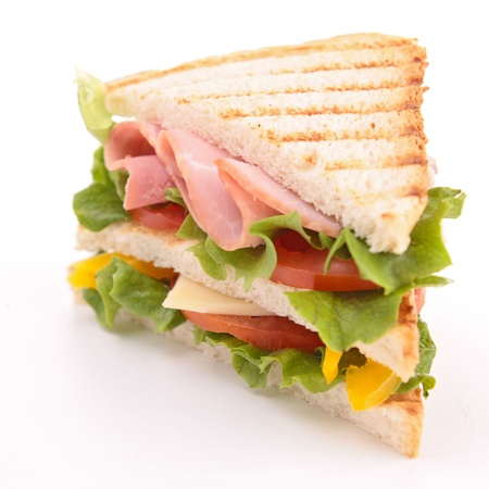 chicken sandwich: s?ndwich aislado Foto de archivo