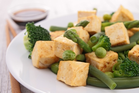 vegetarian: grilled tofu and vegetables