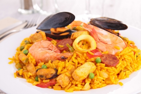 spanish food: paella Stock Photo