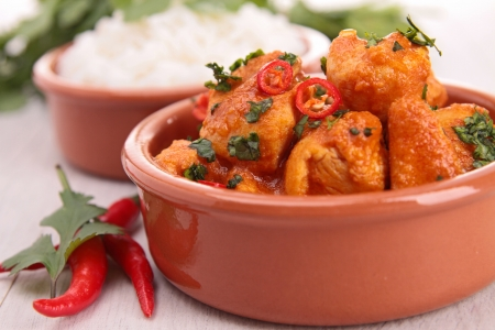 curry chicken and rice Stock Photo - 18591077